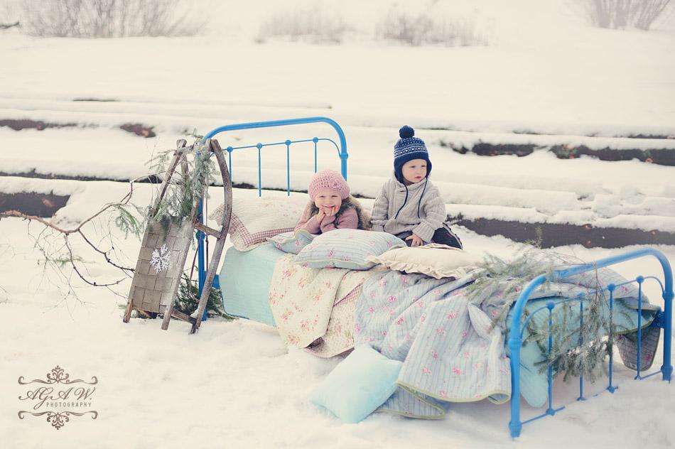 dziecięca sesja zimowa