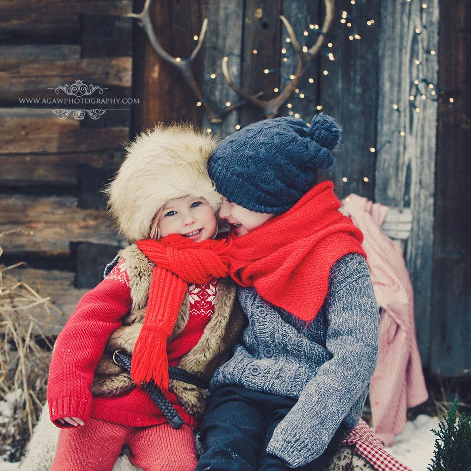 zimowy plener dla dzieci