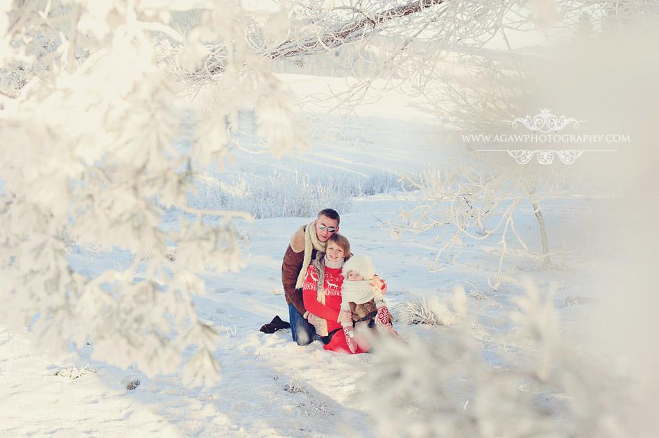 zimowy plener rodzinny